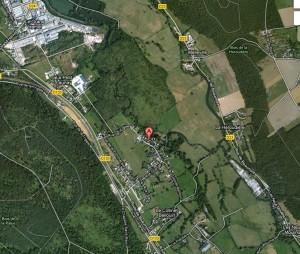 Le village. dans Carte plan-de-launay-c-300x254